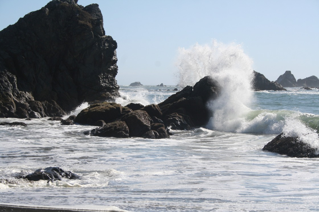 Rocks and Waves on the Pacific Coast of Oregon - 25 September 2008