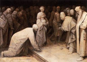 Bruegel Christ and woman