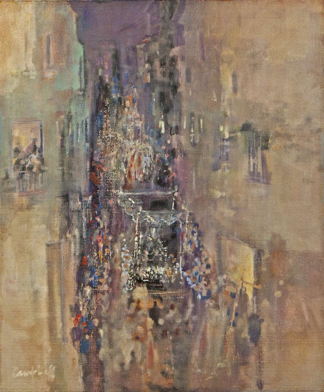 Holy Week Procession Malaga by George Campbell